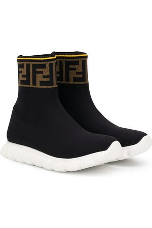 Fendi Hi-top FF logo sneakers
