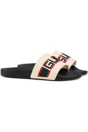 Gucci Girls Sandals - Logo print pool slides