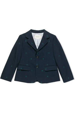 Gucci Symbols jacquard cotton blazer