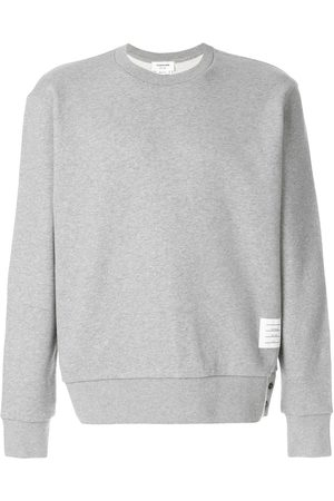 Thom Browne Center-Back Stripe Jersey Pullover - Grey