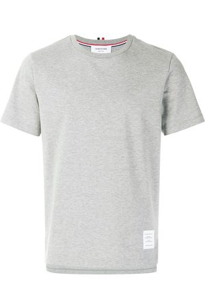 Thom Browne Side Slit Relaxed Short-Sleeve Tee - Grey
