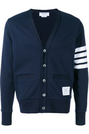 Thom Browne Men Cardigans - 4-bar Loopback Cardigan