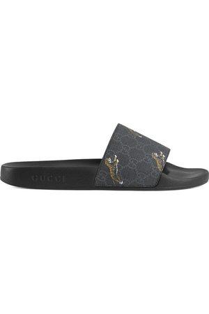 Gucci Men Sandals - GG Supreme tigers slide sandal