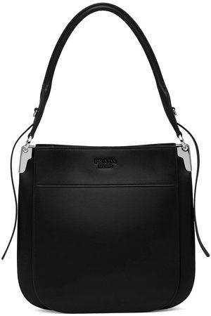 Prada Margit embossed logo shoulder bag
