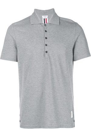 Thom Browne Center-Back Stripe Piqué Polo - Grey
