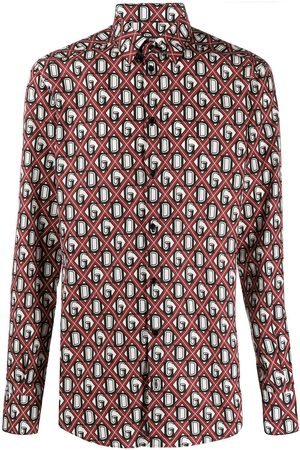 Dolce & Gabbana DG diamond check shirt