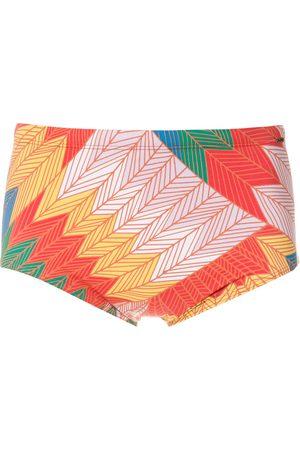 AMIR SLAMA Cocar Francês print trunks - Multicolour