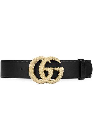 Gucci Textured GG buckle belt