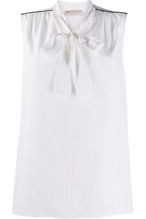 Emilio Pucci Tie-neck sleeveless blouse