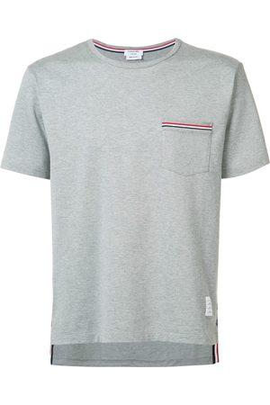 Thom Browne Rwb Pocket Trim Short-Sleeve Tee - Grey