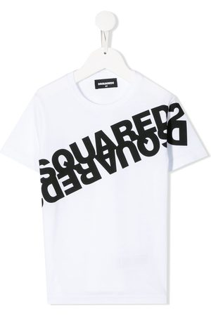 Dsquared2 Mirrored logo cotton T-shirt