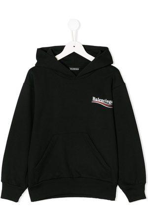 Balenciaga Logo-print long-sleeved hoodie