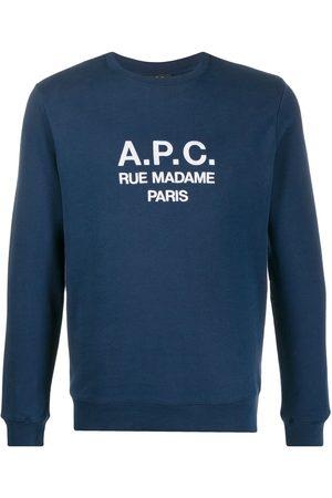 A.P.C Embroidered logo sweatshirt