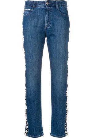 Stella McCartney Women Boyfriend Jeans - Logo stripe boyfriend jeans