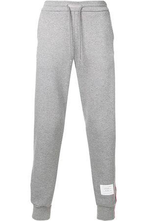 Thom Browne Rwb Stripe Loopback Sweatpants - Grey