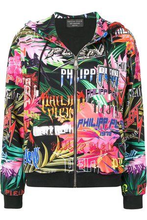Philipp Plein Graphic logo print zipped hoodie