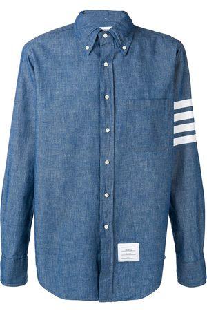 Thom Browne 4-Bar Straight-Fit Chambray Shirt