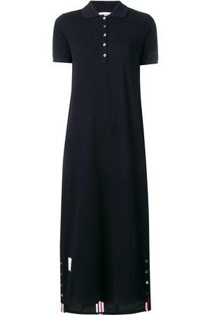 Thom Browne Women Casual Dresses - Center-Back Stripe Piqué Polo Dress