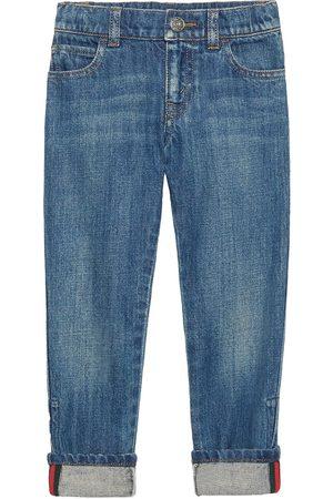 Gucci Boys Straight - Web detail straight leg jeans