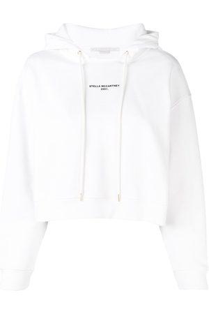 Stella McCartney Logo print cropped hoodie