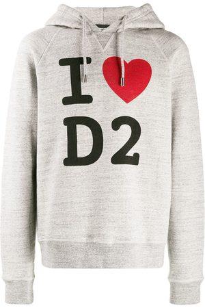 Dsquared2 I Love D2 printed hoodie - Grey