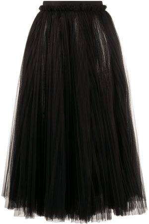 Dolce & Gabbana Ruched tulle midi skirt
