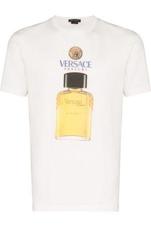 VERSACE Logo perfume print T-shirt