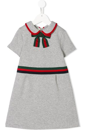 Gucci Girls Casual Dresses - Web trim dress - Grey