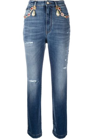 Dolce & Gabbana High-waisted cropped jeans