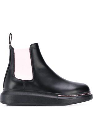 Alexander McQueen Contrast panels chelsea boots