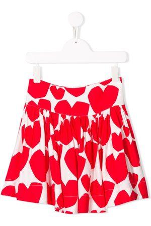 Stella McCartney Hearts print skirt