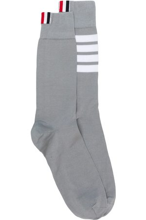 Thom Browne 4-Bar mid-calf socks - Grey