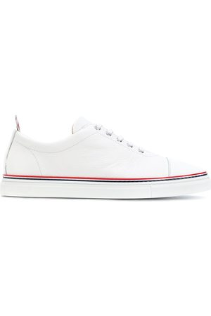 Thom Browne Men Sneakers - Straight Toe Cap Trainer In Pebble Grain & Calf Leather
