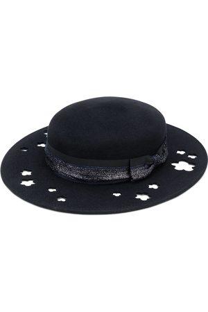 Le Mont St Michel Kiki glitter-trimmed cutout hat