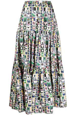 La DoubleJ Big floral-print skirt