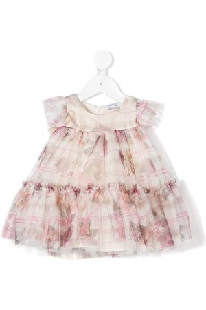 MONNALISA Baby Printed Dresses - Teddy bear print tulle flared dress