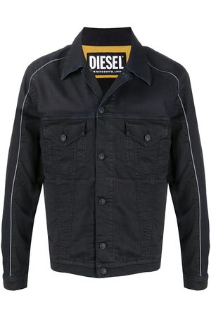 Diesel Contrasting-trim denim jacket