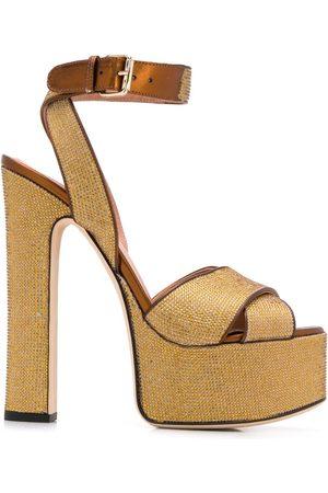 MARCO DE VINCENZO Women Sandals - Embellished platform sandals