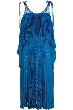 MARCO DE VINCENZO Tiered laser-cut midi dress