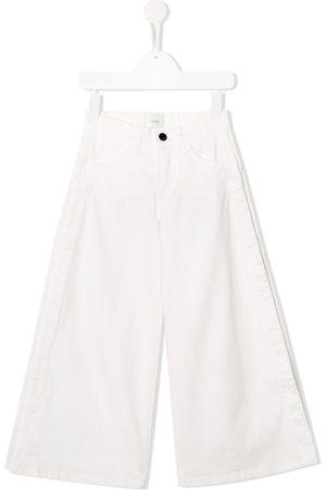 Fendi Snap fastening wide leg jeans