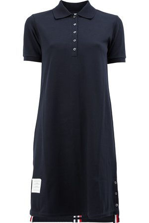 Thom Browne Striped Pique Polo Dress