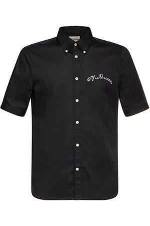 Alexander McQueen Logo Embroidery Organic Cotton Shirt