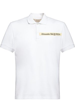 Alexander McQueen Logo Tape Organic Cotton Polo