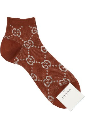 Gucci Women Socks - Gg Lurex Jacquard Socks