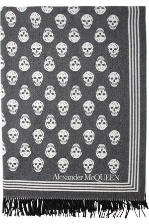 Alexander McQueen Jacquard Wool & Cashmere Scarf