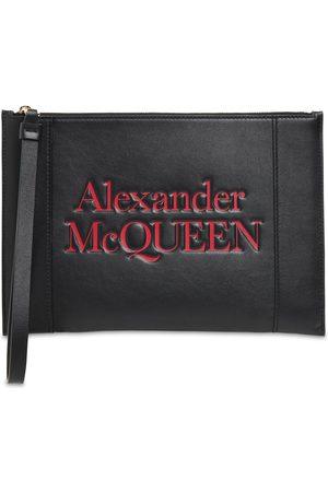 Alexander McQueen Signature Logo Leather Clutch