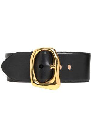 Alexander McQueen 85mm Leather Belt