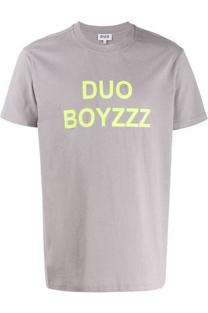 DUOltd Bouzzz print T-shirt - Grey