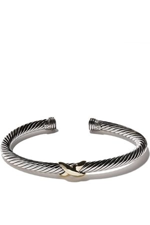 David Yurman Women Bracelets - 14kt yellow gold X silver cuff bracelet - S4