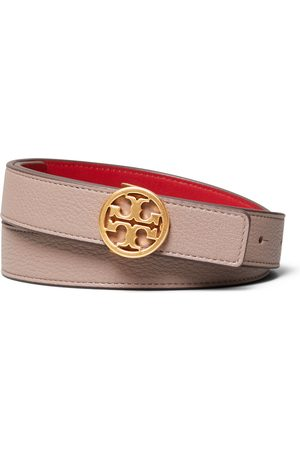 Tory Burch Women's T-Logo Reversible Leather Belt